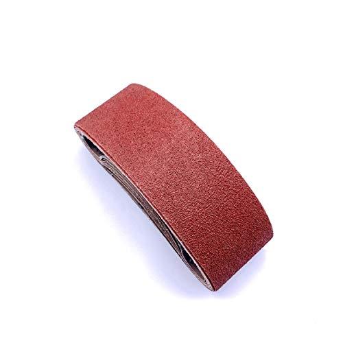 3x21 Sanding Belt , 80 Grit Aluminum Oxide Craftman Belt Sandpaper for Belt Sander 3 x 21,12 Pack (3x21 Inch,80 Grit)