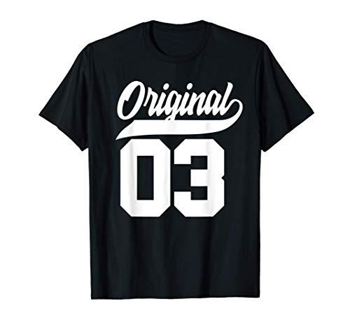 Regalo de 18 cumpleaños Chicos Chicas Original Nacido 2003 Camiseta