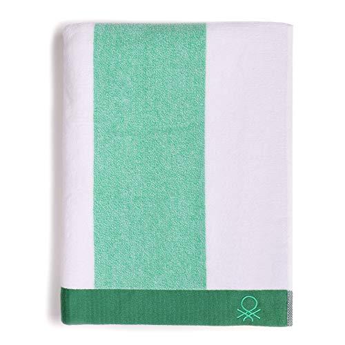 UNITED COLORS OF BENETTON. Toalla de Playa 90x160cm 450gsm Terry 100% algodón Verde Casa Benetton, 90x160