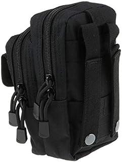 FLAMEER スマホホルスター 携帯入れポーチ ナイロン バッグ ポーチ 携帯電話バッグ 軽量 防水 大容量 全5色 - ブラック