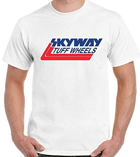 PUTAIN Skyway Tuff T-Shirt Wheels Mens Retro BMX Cycling Bandit Bike Mongoose MTB White M