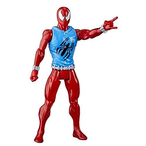 Spiderman- Figura de acción Titan del Personaje Scarlet Spider (Hasbro E85215X0)