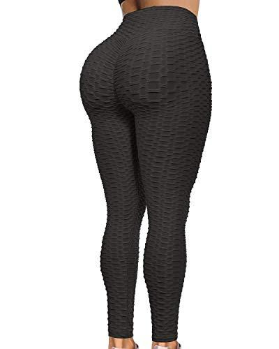 Booty Lifting x Anti-Cellulite-Leggings, perfekt für alle Arten von Yoga-Sportarten (Schwarz, M)