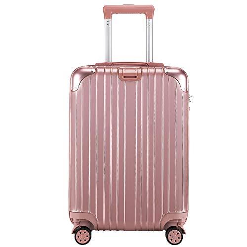 レーズ(Reezu) スーツケース 機内持込 キャリーケース ファスナー キャリーバッグ 超軽量 ジッパー 耐衝撃 人気 静音ダブルキャスター TSAローク搭載 旅行出張 ビジネス ピンク Pink Mサイズ 約66L