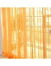 Ashley GAO Mode Eenvoudige Effen Kleur Tule Deur Venster Gordijn Wasbaar Drape Panel Sheer Sjaal Valances Doorschijnend Ontwerp