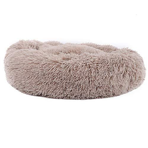 Jeanoko Alfombrilla de dormir para gato de felpa cálida de 70 cm de diámetro para invierno