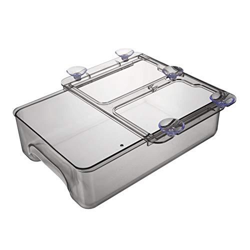 Contenedores organizador de refrigerador, caja de almacenamiento apilable para nevera, despensa, cocina y congelador, organizador de cajón de nevera transparente