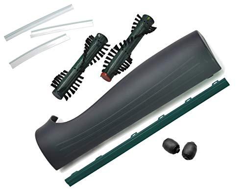 Ersatzteil Set geeignet Vorwerk Elektrobürste EB 370 bestehend aus Fronthaube, Frontrollen, Frontlippen,Hinter- Mitnehmer- Kehrlippen, Bürsten