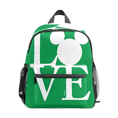 Mochila infantil para niños de 1 a 6 años de edad, bolsa de escuela para niños y niñas, mochila perfecta para niños pequeños a jardín de infancia, Mickey Mouse Love Green