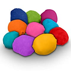 COLOR POWDER FILLED COLOR BALLS come pre-filled and ready-to-throw! You'll receive 10 Color Balls in 10 different, vivid colors: Red, Yellow, Navy Blue, Green, Orange, Purple, Pink, Magenta, True Blue, Aquamarine. HOST A COLOR POWDER PARTY with Chame...