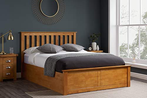 Birlea Phoenix 5ft Kingsize Ottoman Bed, Oak, UK King