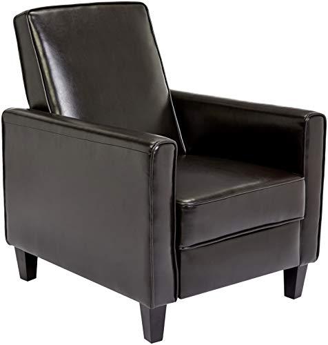 First Hill Junia Recliner Club Chair, Espresso Bean
