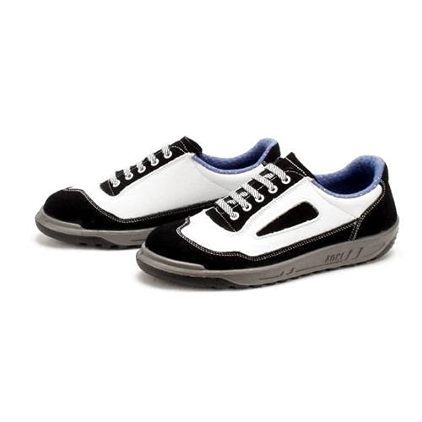 厳密に乱れラジカル青木産業 安全靴 スニーカータイプ 紐式 ツートンカラー 黒/白 ZR-11BW 22CM