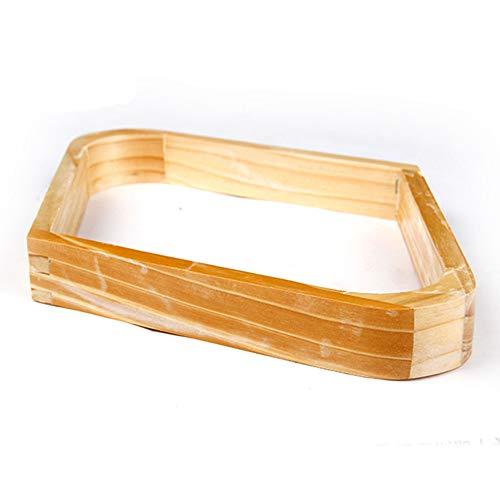 JRPT Billard-Triangel 1 cm dick und 3 cm hoch,9 Ball Racks Massivholz, leicht zu reinigen Wunderschönen/Als zeigen / 18CM