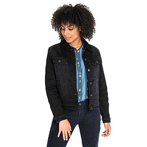 Lee Sherpa Jacket Chaqueta Vaquera, Negro (Black Tyro Jw), Large para Mujer