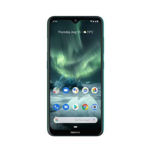 Nokia 7.2 Smartphone - Deutsche Ware (16cm (6,3 Zoll), 128GB Interner Speicher, 6GB RAM, Dual-SIM, LTE) Cyan Green