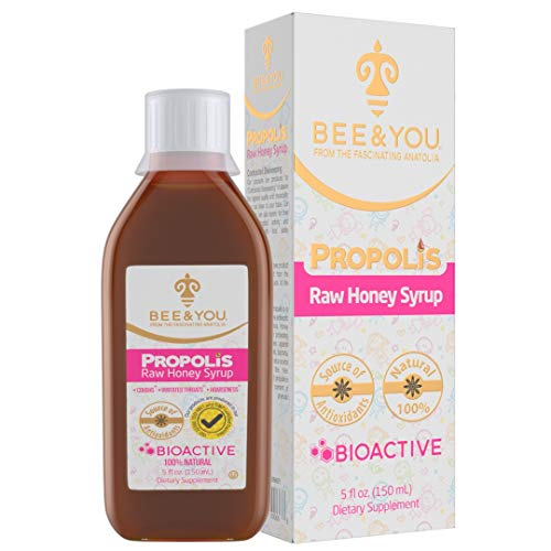 BEE & YOU Propolis Honey Syrup for Kids-Only 3 Ingredients ,100% Natural...