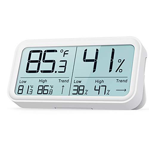 BFOUR Hygrometer Indoor Thermometer, Hygrometer Humidity Gauge Room Thermometer Digital Hygrometer Indoor Temperature Humidity Monitor High-Precision Digital Sensor(HD Large Display)