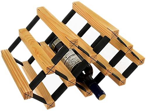 BGHDIDDDDD Estante de Vino Novedoso Estante de Mesa Multicapa para Vino 6 Botellas de Madera Iza