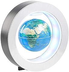 infactory Floating Globe: Swobodnie pływający 10 cm globus w pierścieniu magnetycznym z kolorowym oświetleniem LED (pływająca kula ziemska)