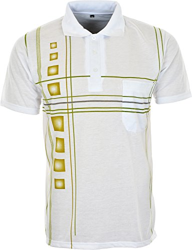 Lucky Brand - Polo - Col Chemise Classique - Homme - Blanc - Large