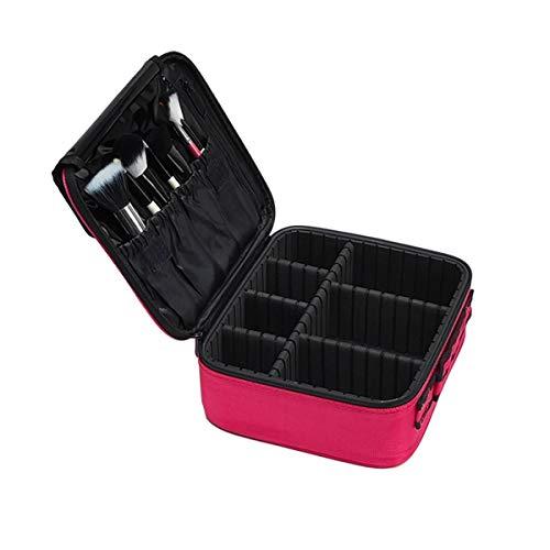 Sac de cosmétique Voyage Maquillage Professionnel Make Up Box Cosmétiques Pochette Sacs Beauty Case pour maquilleur, Rose Mini 2 Couches