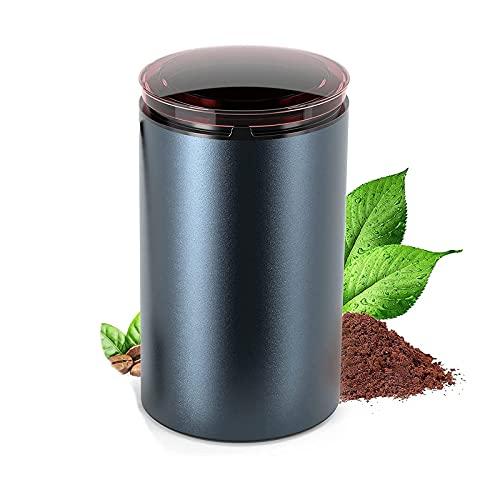 Lihuzmd Molinillo de café eléctrico, Molinillo de Especias de 150 W con pulverizador eléctrico de Hoja de Acero Inoxidable para Granos de café, Especias, nueces, Hierbas, Pimienta