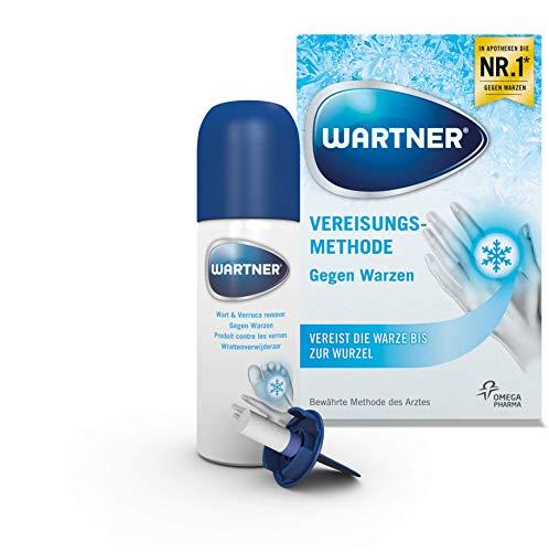 WARTNER Vereisung gegen Warzen und Fußwarzen (Spray zur Entfernung von Warzen, Warzen-Kryotherapie zur Selbstbehandlung für Kinder ab 4 Jahren und Erwachsene) 1er Pack (1 x 50 ml)