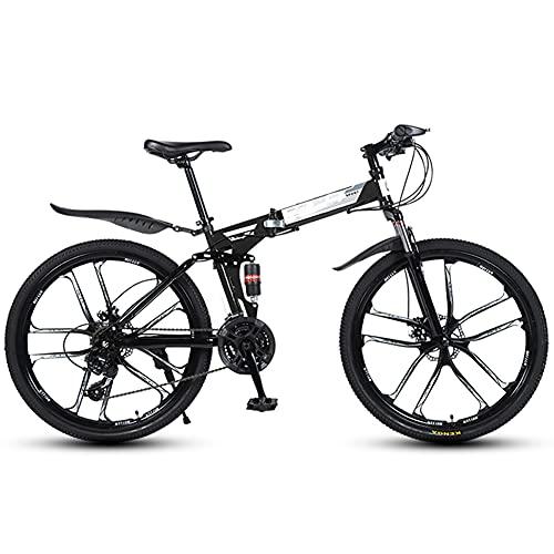 GWL Bicicleta Plegable para Adultos,Bicicleta De Montaña De 26 Pulgadas, Bike Sport Adventure, Portátil,Duradera,Bicicleta De Carretera, Bicicleta De Ciudad/A / 26inch