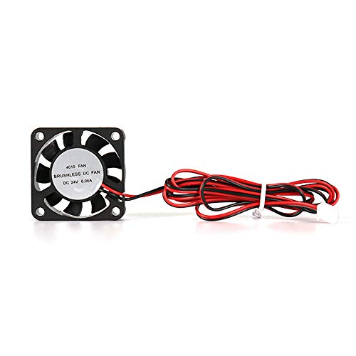 Aibecy Anet 4010 Brushless DC Cooling Fan Heat Dissipation Silent Fan Tool with Oil Bearing Shaft 404010mm 6000RPM Cable Length 110cm for Anet A8 Plus CR 10 Ender 3 3D Printers for Computer CPU