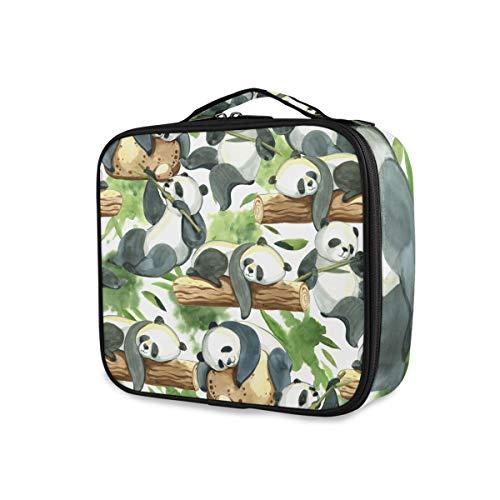 DOSHINE Kosmetiktasche, groß, süßer witziger Pandabaum-Kunst, tragbarer Organizer,...