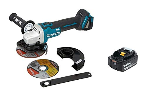 Makita XAG09Z 18V LXT Lithium-Ion Brushless Cordless 4-1/2-Inch / 5-Inch Cut-Off/Angle Grinder, with Electric Brake & BL1840B 18V LXT Lithium-Ion 4.0Ah Battery