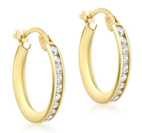 Carissima Gold Damen - Ohrringe 9 k (375) Rundschliff Kristall 1.58.4719