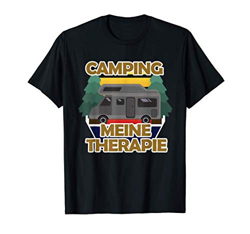 Camping Wohnwagen Therapie, Campe Geschenk, Wohnmobil Gesche T-Shirt