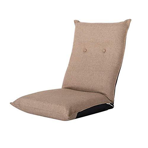 YHLZ Bodenstuhl, gepolsterten Boden Stuhl Klappbodenstuhl mit Verstellbarer Rückenlehne, waschbar dicken Kissen Sofa Lazy Lounge, for Nap, Lesen, Spiele, Meditation (Color : Brown)