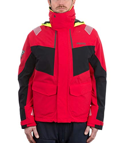 Musto Herren Br2 Coastal Coat Jacket Mantel True Red. Wasserdicht und atmungsaktiv