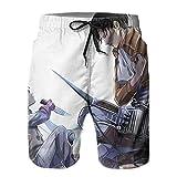 Inaayayi Att-Ack-On-Tit-an - Pantalones cortos de playa para hombre, pantalones cortos clásicos de baño de secado rápido, con múltiples bolsillos y forro de malla