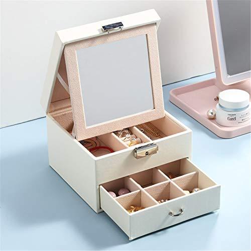 Secret night Jewelry Box for Travel Organizer, Pantalla portátil de Almacenamiento, para Anillos Pendientes Accesorios Accesorios Regalos para niñas Mujeres,3