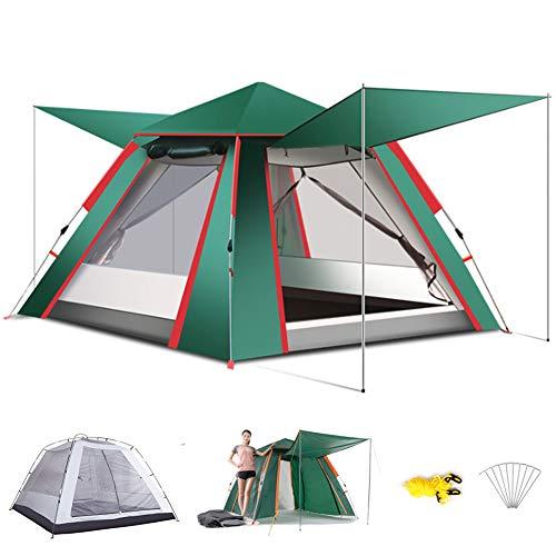 Wsaman Campingzelt mit Vorbau 3-5 Personen, Portable Pop Up Beach Zelt Kompaktes Trekkingzelt Schnellaufbau Igluzelt Pavillon Festivalzelt Einfache Einrichtung für BBQ Strand Garten Tents Teepee