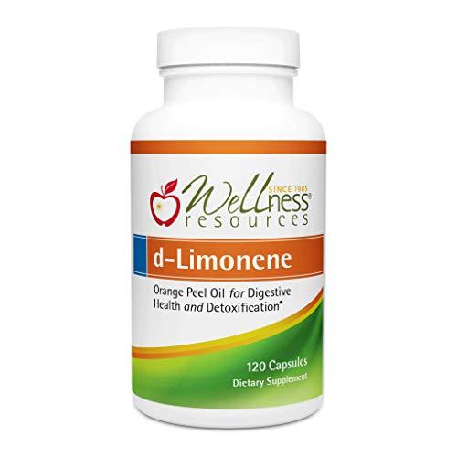 High Potency d-Limonene Capsules 1000mg, 120 Capsules - Orange Peel Extract for Digestive Health, Heartburn, Acid Reflux, Detoxification