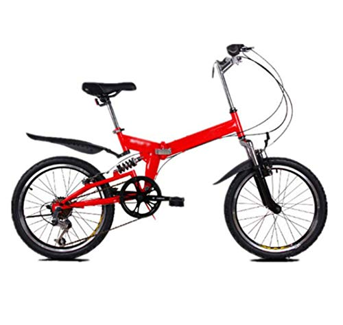 Affordable Gaoyanhang 20inch Folding Mountain Bike ,Double Brakes Front and Rear, Widened Wheels 6...