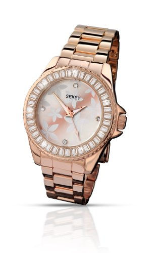 Seksy by Sekonda Women's Quartz Watch with Rose Gold Dial Display and Rose Gold Stainless Steel Bracelet 4655.37