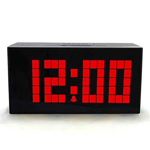 Relojes de escritorio del reloj de cabecera Multicolor Mute Luminoso Reloj de alarma Digital Reloj LED Termómetro Termómetro Temporizador Calendario Dormitorio Sala de estar Decoración Decoración Relo