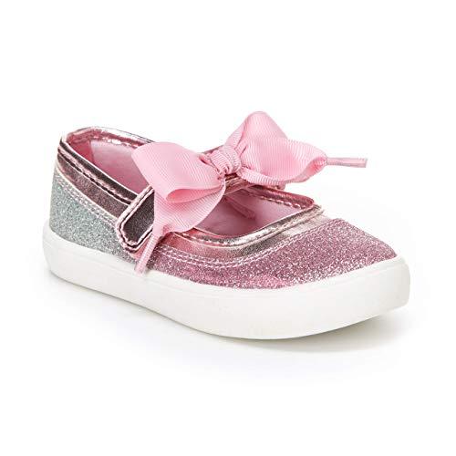 carter's Girl's Alberta Glittery Mary Jane Flat, Pink, 10 M US Toddler
