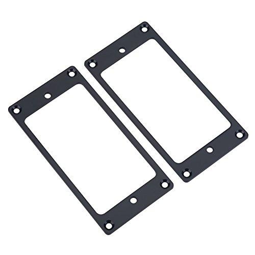 2 piezas de marco de puente, tapa metálica de Humbucker Pickup, pieza de repuesto para guitarra (negro)