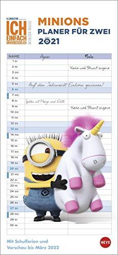 Minions Planer für zwei Kalender 2021