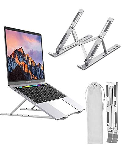 Adjustable Laptop Stand Aluminum Laptop Computer Tablet Portable Ergonomic Stand Mount Foldable Portable Desktop Holder Fully Collapsible Compatible 10-15.6' Laptops or Tablet