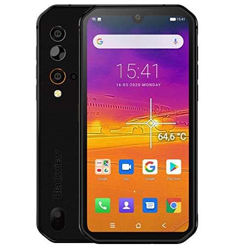 Smartphone Rugged (2020) Blackview BV9900, Helio P90 8GB+256GB, Fotocamera Quad AI 48MP, Cellulare in Offerta Impermeabile Antiurto IP68, FHD+ 5,84'' Gorilla Glass 5, Ricarica Wireless NFC Nero