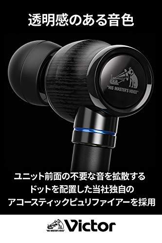 VictorJVCHA-FW1500WOODシリーズ密閉型イヤホンリケーブルハイレゾ音源対応