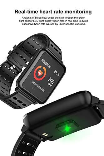 Makibes BR2 - Reloj deportivo con brújula GPS y velocímetro, Bluetooth, para senderismo, multideporte, rastreador de actividad física, dispositivo portátil (negro)